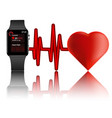 best smartwatch with heart rate monitor vector image