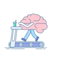 Brain Workout The concept of brain activity vector image vector image