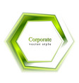 Bright green tech logo vector image vector image