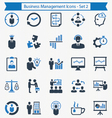 Business Management Icons - Set 2 vector image