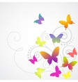 butterflies background design vector image vector image