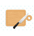 chef knife on chopping board vector image
