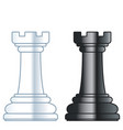 chess rooks vector image vector image