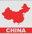 china map colorful red on isolated background vector image vector image