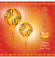 Chinese new year with chinese lanterns vector image vector image
