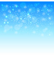 christmas background solar situation snowflakes vector image