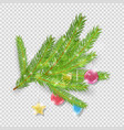 christmas decoration green christmas tree vector image vector image