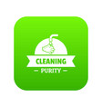 cleaning purity icon green vector image vector image