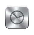 Clock icon button vector image vector image