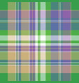 colored check pixel plaid fabric seamless pattern vector image vector image