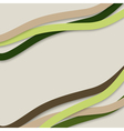 colorful wavy stripes vector image vector image