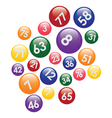 coloured lottery balls vector image