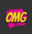 comic text pop art grunge brush omg vector image
