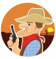cowboy with gun vector image vector image