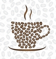 cup coffee consisting coffee beans vector image