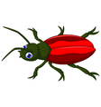 cute red beetle cartoon vector image vector image