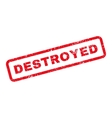 Destroyed Text Rubber Stamp vector image vector image