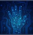 digital hand vector image