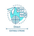 direct marketing turquoise concept icon message vector image vector image