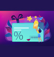discount and loyalty card concept vector image vector image