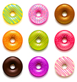 Donuts icons set vector image vector image