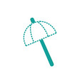 dotted shape umbrella open style to weather vector image vector image