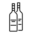 drink bottle icon outline style vector image