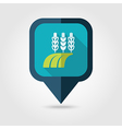Ears of Wheat Barley Rye Field flat pin map icon vector image vector image