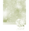 elegant christmas bauble background vector image vector image
