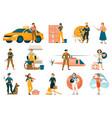 female profession set vector image