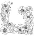 field poppies Spring Pattern vector image vector image