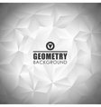 Geometry metal background design vector image