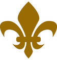 golden heraldic lion royal bourbon lily vector image vector image