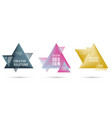 gradient color triangle banners with halftone vector image