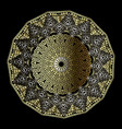 greek ornamental round 3d mandala pattern floral vector image