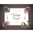 Greeting card with flowers watercolor can be vector image vector image