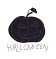 halloween pumpkin silhouette drawing vector image vector image