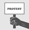 Hand holding protest poster - strike vector image vector image