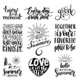 hand lettering with motivational phrases vector image