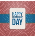 Happy Friendship Day Sale special Badge vector image