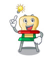 have an idea baby highchair isolated on the mascot vector image