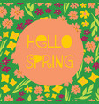hello spring feminine banner vector image vector image
