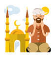 islamic prayer flat style colorful cartoon vector image vector image