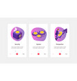 isometric cryptocurrency banners set vector image vector image