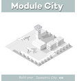 isometric map city airport vector image vector image