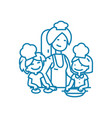 lessons with children linear icon concept lessons vector image vector image
