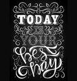 lettering phrase message2 vector image