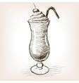 Milk shake sketch style vector image vector image