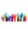 multicultural and multiethnic people community vector image vector image