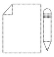 paper document with pencil vector image vector image